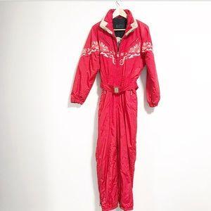 Bogner. One piece ski jumpsuit. Size 8. Vintage